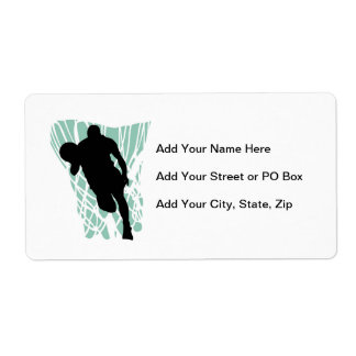 To the Net Basketball Tshirts and Gifts Personalized Shipping Labels