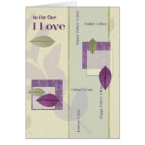 To the One I Love. Father's Day Customizable Cards