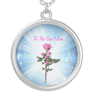 To The One I Love ...Necklaus Round Pendant Necklace