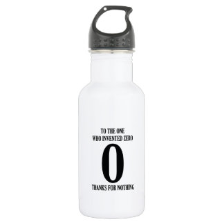 To The One Who Invented Zero Water Bottle