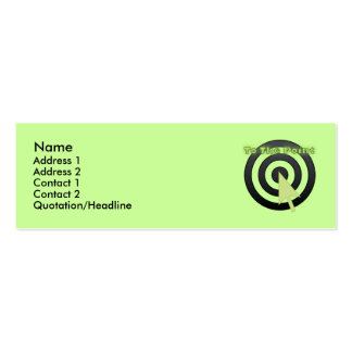 To The Point Card Business Card Template