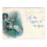 """To the Queen of my heart"" Valentine's postcard"