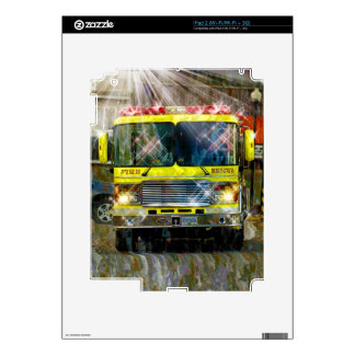 TO THE RESCUE Emergency Fire Truck Device Skin Skin For The iPad 2