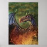 to the rescue! fantasy dragon canvas print