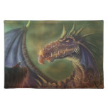 to the rescue! fantasy dragon cloth placemat
