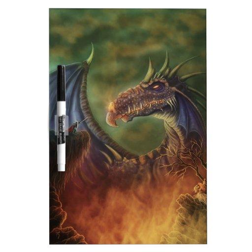 to the rescue! fantasy dragon Dry-Erase board