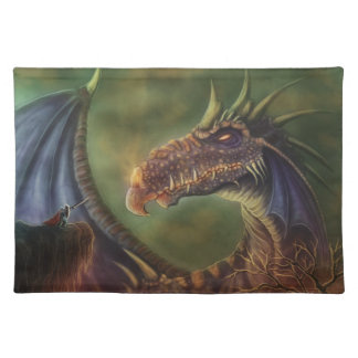 to the rescue! fantasy dragon cloth place mat
