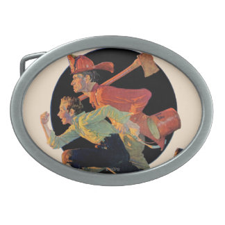 To the Rescue Oval Belt Buckle