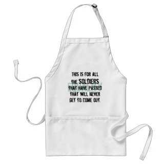To the Soldiers Adult Apron