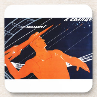 To The Sun To The Stars Beverage Coasters
