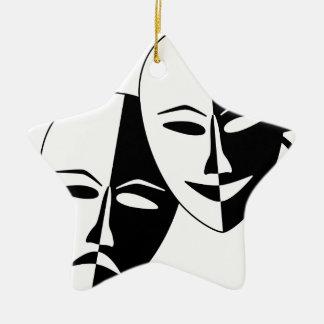 To the Theatre! Ceramic Ornament