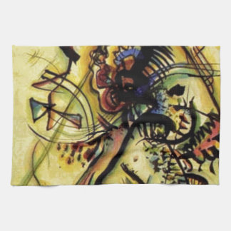 To the Unknown Voice by Kandinsky Kitchen Towel