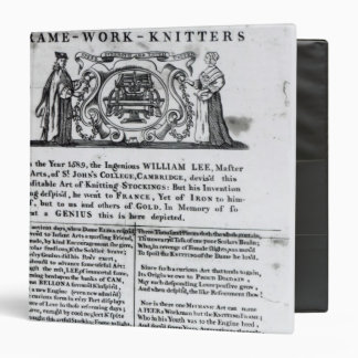 To the Worshipful Company of Frame-Work-Knitters 3 Ring Binder