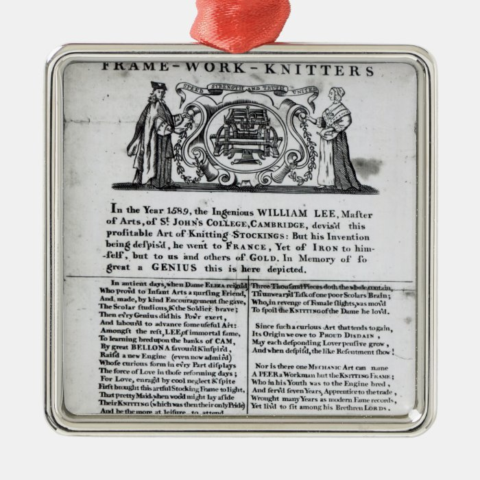 To the Worshipful Company of Frame-Work-Knitters Metal Ornament