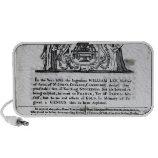 To the Worshipful Company of Frame-Work-Knitters Mini Speaker