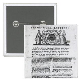To the Worshipful Company of Frame-Work-Knitters Pinback Button