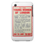 To the Young Women of London, recruitment poster, Case-Mate iPhone 3 Cases