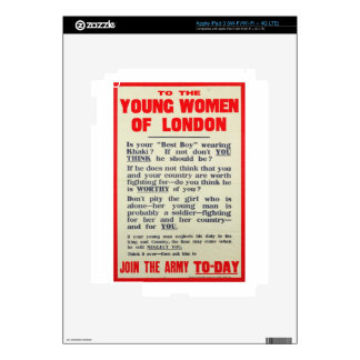 To the Young Women of London, recruitment poster, Decals For iPad 3