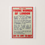 To the Young Women of London, recruitment poster, Jigsaw Puzzle