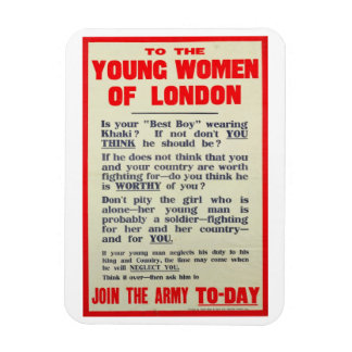 To the Young Women of London, recruitment poster, Magnet