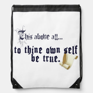 To Thine Own Self Be True Backpack