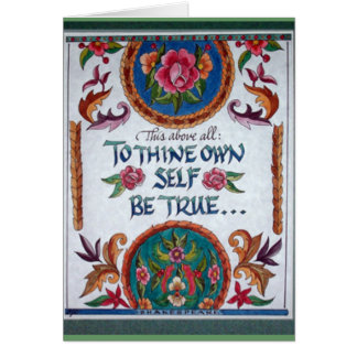To Thine Own Self Be True by Barbara Beck-Azar Card