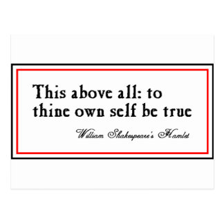 """To Thine Own Self Be True"" Postcard"
