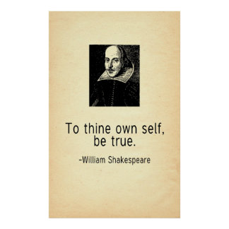 To Thine Own Self Be True Shakepeare Quote Print
