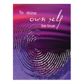 To Thine Own Self Be True Swirl Postcard