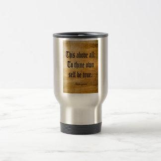 To Thine Own Self Be True (Weathered) Travel Mug