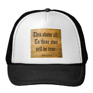To Thine Own Self Be True (Weathered) Trucker Hat