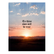To Thine Own Self Postcard