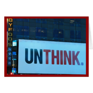 To Think or Unthink Cards
