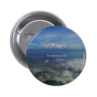 To travel is to live TRAVEL QUOTE Button