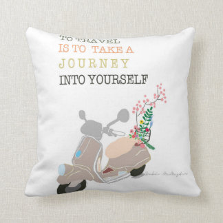 to travel is to take a journey into yourself throw pillow