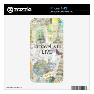 To Travel ls To Live quote Skin For The iPhone 4