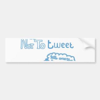 To Tweet or Not to Tweet Bumper Sticker