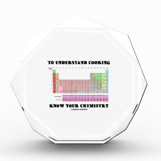 To Understand Cooking Know Your Chemistry Acrylic Award
