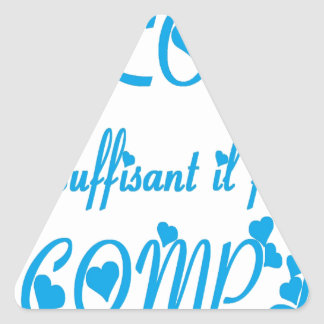 TO WANT ACCOMPLIR.png Triangle Sticker