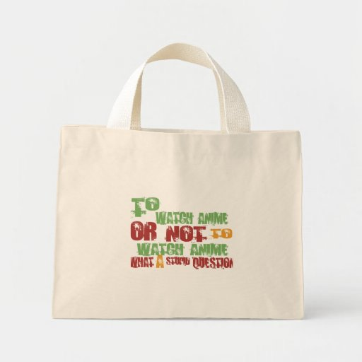 To Watch Anime Canvas Bag