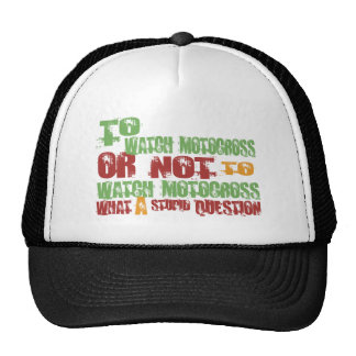 To Watch Motocross Trucker Hat