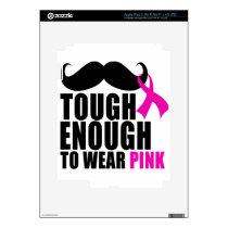 To wear Pink for cancer awareness Decal For iPad 3