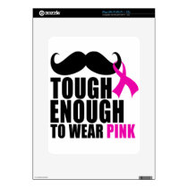 To wear Pink for cancer awareness iPad Decal