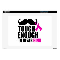 To wear Pink for cancer awareness Laptop Decals
