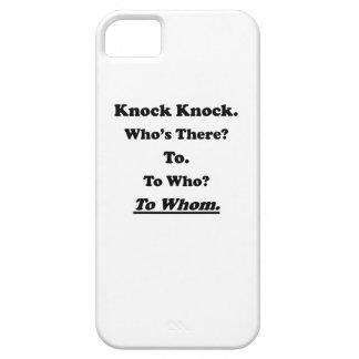 To Whom Knock Knock Joke iPhone 5 Covers