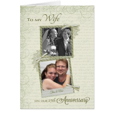 ryckycreations To Wife on __th Anniversary - Custom Then & Now Card
