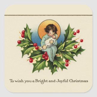 To Wish You a Bright and Joyful Christmas Square Sticker