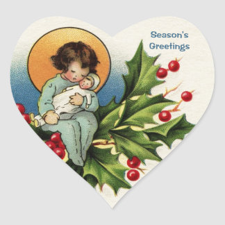To Wish You a Bright and Joyful Christmas Heart Stickers