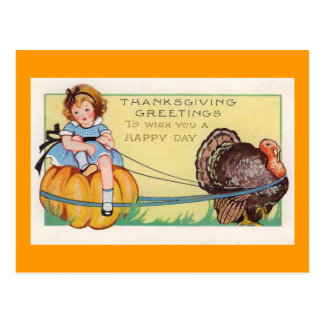 """To wish you a happy Day"" Thanksgiving Postcard"