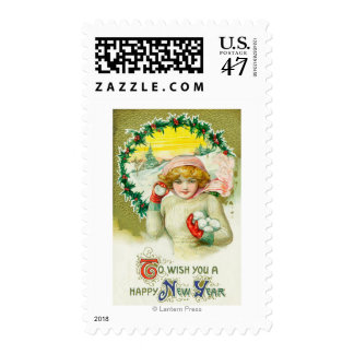 To Wish you a Happy New Year Snowball Fight Postage